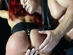 Pornstar Platinum brings you a hell of a free porn video where you can see how this wild redhead milf gives a great blowjob to her man while assuming very hot poses.