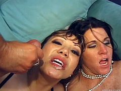 Make sure you have a look at this hardcore scene where these two cock thirsty milfs are fucked by big cocks in a foursome.