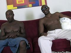 This beautiful chick with smoking ass is horny and naughty babe who loves big black cocks. These guys destroyed her pussy and asshole.