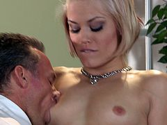 A nasty cock sucker gives head and then takes that hard cock balls deep into her slippery wet fuckin' pussy. Check it out right here!