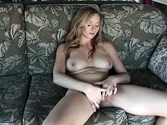 Watch this hot blonde cheerleader babe Indiana Jane in this hot solo video.This amateur blonde babe with hot juicy tits and sexy unshaven pussy will tease you with her good looks and hot solo masturbation.