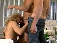 Watch this guy's large black cock penetrating his new white girlfriend's wet and tight pussy in The Classic Porn sex clips.