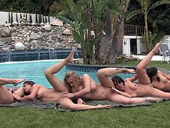Insolent beauties are having a great time by licking one another's pussy