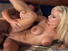 She is such a stunning and petite milf with so much desires! Honey sucks him so good and then he bangs her sweet cunt!