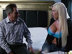 Stunning blonde Summer Brielle has married a millionaire, but she did it only for the money. What she actually need is a young dude witha big cock, who can fuck her like crazy!
