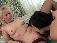 Have a look at this lesbian scene where these two horny ladies leave you astounded while they please one another on camera.