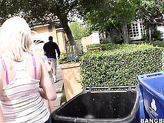 Rebecca Blue with round ass lets Nichole Taylor stick her tongue in her lesbian bush