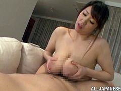 That's a damn Japanese porn out there! Charming and desirable milf Mio Sakuragi is going to be stunning on that huge one.