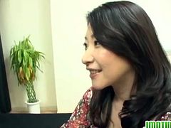 Kinky mature Japanese woman plays guessing game for husband.Watch how she guess wrong cock and ends up getting fucked hard in front of her husband.Enjoy her hair