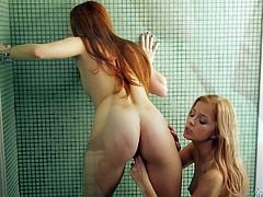 Make sure you take a look at this heart stopping lesbian scene where these gorgeous teens have a great time making you cum as they please each other in the shower.
