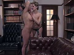 Maitresse Madeline Punishes Her Servant together close by A Strap-on