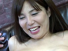 Lustful Japanese Karen Natsuhara knows that she is driving her lover crazy so she makes him lick her hairy pussy. Damn, what a filthy whore!