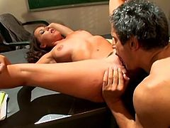 Make sure you have a look at this hardcore scene where the slutty Penny Flame is fucked by her teacher's big cock in the middle of class.