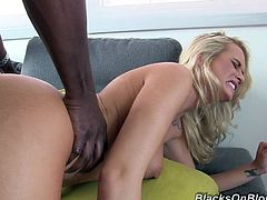 Check out this great interracial scene where the sexy blonde Emily Austin fingers herself before taking a pounding from a big black cock.