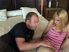 Light head fuck starving hoe with small boobs received powerful licking and fingering of her dumpy smelly pussy. And payed for it by hardcore blowjob. Watch this smelly pussy in Fame Digital porn video!