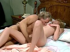 Hairy kitty of this svelte whorish chick needs to be tickled. Big muscled dude applies his thick fingers to her lovely twat and grounds that bitch mish and doggy styles. Look at this hairy pussy in The Classic Porn sex clip!