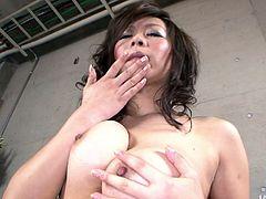 Super horny Asian MILF Ren Mizumori invites into you into her living room for a private show. She will show you how she fingers her snatch and reaches powerful orgasms.