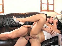 Horny bitch in glasses Claudia Rossi is getting pounded in her asshole with massive shlang today! She rides it like a nympho and enjoys every inch of it!