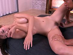 Sandy haired lustful chick with tiny Tatas rested doggy pose in bed and got her thirsting pinkish twat vigorously fingered by that hot blooded dawg. Enjoy this Asian loping in Jav HD porn clip!