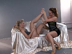 Make sure you have a look at this hot scene where these horny ladies leave you speechless with a hot lesbian scene.