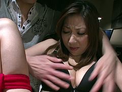 Lustful nympho Mirei Yokoyama knows that she is in for a rough kinky time. She is bound hand and foot and ready for punishment. Horny bondage master wants to teach this bitch some good manners. He is not that bad as all he wants is to give her pleasure! He tickles her pussy with vibrator until she cums.