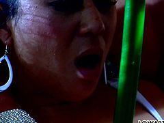 Hot like hell long haired light head whore with massive boobs roped well graced ebony lassie and applied huge blow stick to satisfy her thirsting cooch in some painful manner. Watch this dirty babes in Fame Digital porn video!