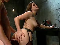Cuckold has Strapon fucked By Bobbi Starr in babe domination video