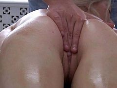 An erotic rubdown nearby oil arouses youngster blonde Polina and when she sees A bulge inside his pants she must have him. A cocksucking makes A dude huge and her peach is soaking sensuous and eager to be drilled hard by his shaft.