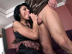 Amazing cock is enough to please her dirty needs during hardcore scene