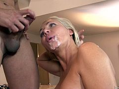 Watch these slutty ladies end up with their slutty faces covered by cum in this hot compilation scene where they all are facialized.