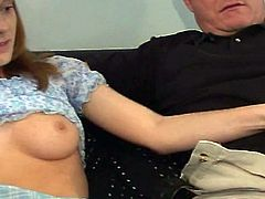 Pregnant slut and her friend get rammed by two older guys in this hardcore British porn video.