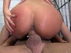 Get a load of this amazing hardcore scene where the busty brunette Anissa Kate is nailed by a big cock as you check out her amazing body.
