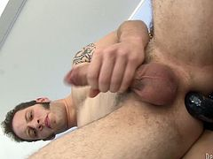 What begins as a hot hardcore sex scene ends up in an intense peggin session, hit play and check it out right here. It's awesome!