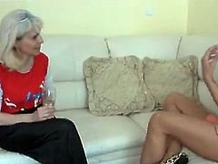 Youthful comes to grandmother to have A talk and xxx