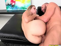 She will never get it enough, as she is a fucking nymph and she will want him like forever! So, he will keep his cock hard up as long as possible.