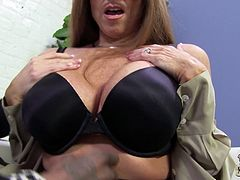This amazing cougar is horny and naughty teacher who loves big black cocks. That lucky stud banged this amazing mom and cum in her mouth.