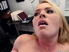 Completely cute minx Krissy Lynn is totally fuckable and horny guy Jordan Ash knows it