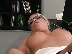 Britney Amber is on the edge of nirvana with Xander Corvuss erect sausage in her muff pie