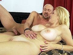 Check out this hardcore scene where the smoking hot blonde milf Charlee Chase is fucked silly by a guy with a big cock.
