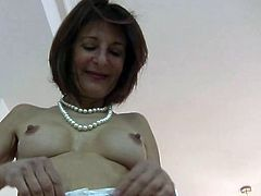 Hot ass and tits on mature in stockings