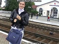 Dark head salacious wench with tiny titties received awesome fingering of her lovely kitty and rewarded her brutal dude with deep throat dick suck while riding a train. Take a look at this zealous lassie in WTF Pass porn clip!