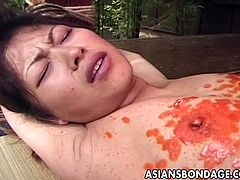 Asians Bondage brings you a hell of a free porn video where you can see how a bound Japanese brunette girl gets burned with candle wax while assuming very hot poses.