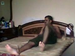 Naughty Indian chick strokes hard dick intensively before having sweaty missionary style sex