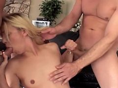 Make sure you have a look at this hardcore scene where the slutty Leah Luv is fucked by these horny guys in a gangbang.