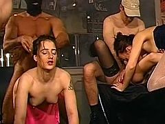 Hardcore groupsex in German traditions with amazing bukkake culminations.