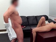 Casting couch scene ends with hot anal fuck