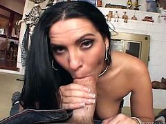 Get a load of this hardcore POV where the slutty brunette Veronica Rayne is fucked silly by this guy's thick cock.