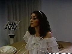 The Classic Porn brings you an amazing free porn video where you can see how a sexy vintage brunette has an amazing erotic dream. She's ready to have a hell of a time!