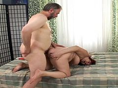 Stud has sex with an old woman and the granny shows him she can still suck cock and take it in her wrinkly pussy. Check it out right here!