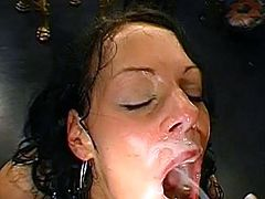 All that hardcore gang bang makes them eager to swallow warm loads